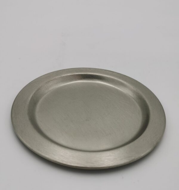 Kerzenteller Silber klein