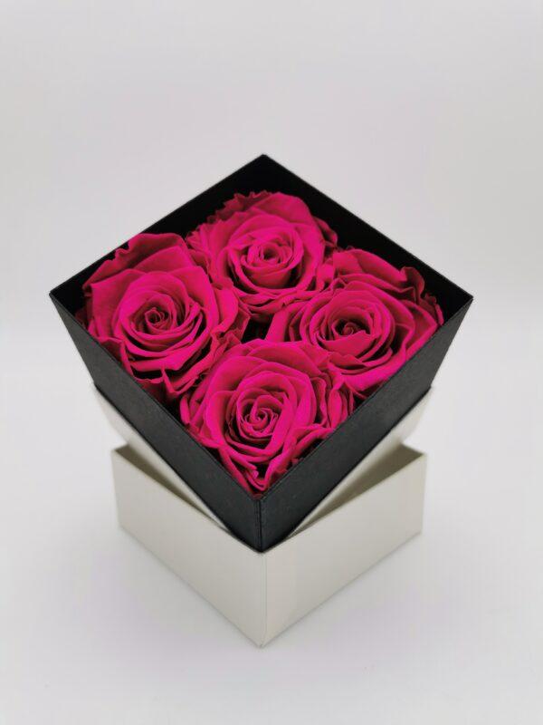 Rosenbox 4er pink
