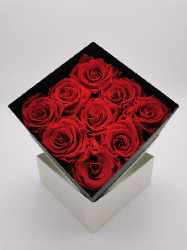 Rosenbox 9er rot