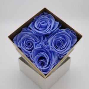Rosenbox 4er Blau