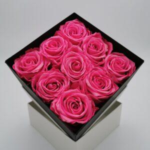 Rosenbox 9er pink