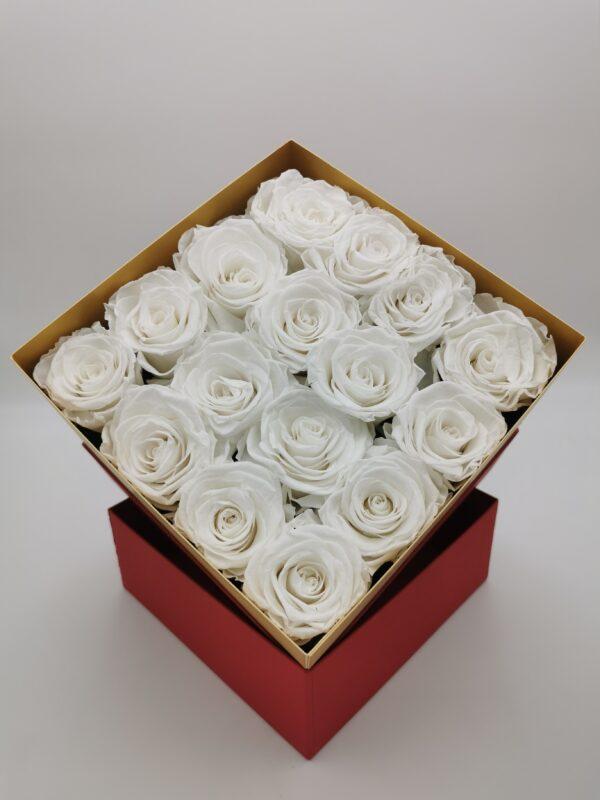 Rosenbox 16er weiß