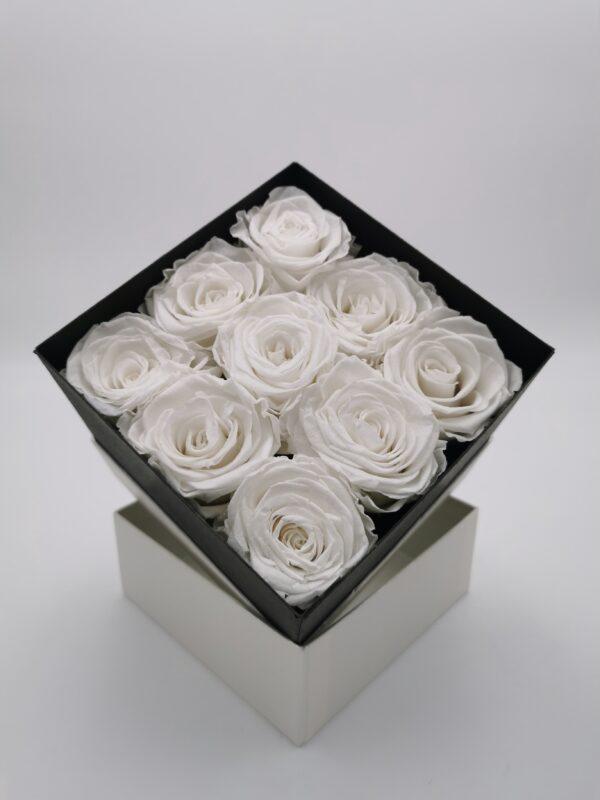 Rosenbox 9er weiß