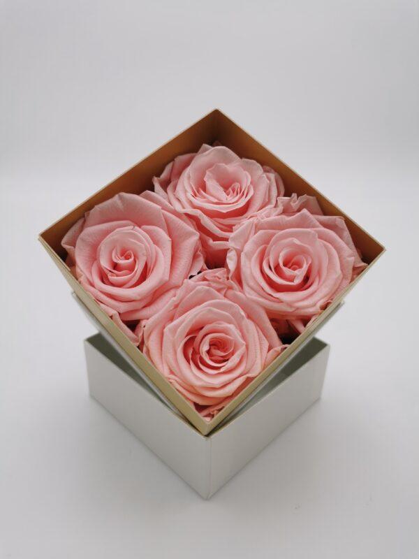 Rosenbox 4er rosa