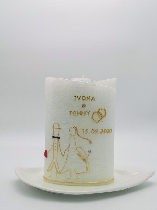Hochzeitskerze Brautpaar