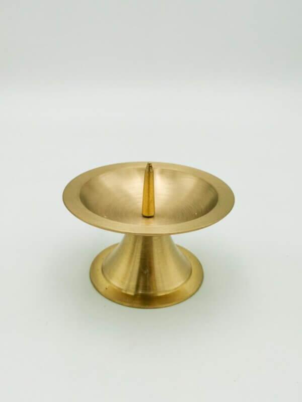 Kerzenständer mit Dorn gold