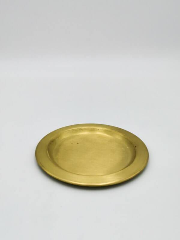Kerzenteller gold klein