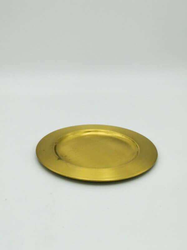 Kerzenteller gold groß
